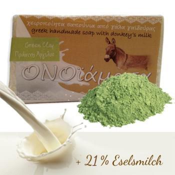 Eselsmilch Seife 100 g mit grüne Tonerde